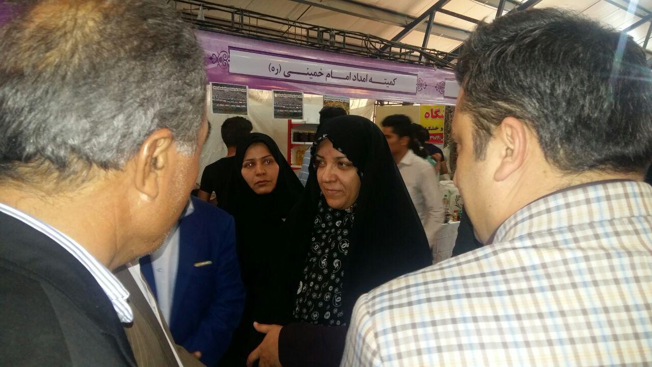 بازديد معاون استاندار از نمايشگاه تعاوني هاي برتر استان